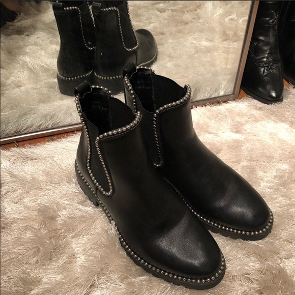 Shoes | Black Studded Flat Booties 7